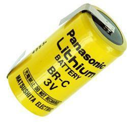 Panasonic Lithium Batterie BR-C mit Lötfahnen in U-Form