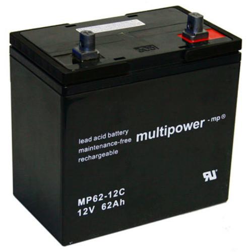 Mulitpower Bleigelakku MP62-12C 12 Volt 62Ah mit M8-Schraubanschluss