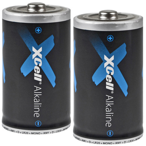 XCell LR20 Mono Batterien D 1,5V AlMn - 2 Stück