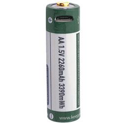 Keeppower 1.5V Li-Ion P1450U2 2,25Ah Test, erreichte Zeit: 250 Min.