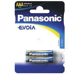 PANASONIC Fotobatterie Evoia LR03 im 2-er Blister 1,5Volt Micro AAA Batterie, LR03EE/2BP