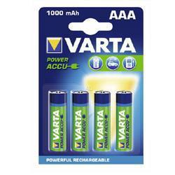 VARTA 5703 Professional Micro (AAA) Akku 1,2Volt 1000mAh NiMH im 4er Blister