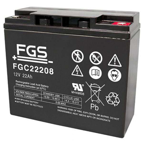 FGS FGC22208 Bleiakku 12V/22Ah Zyklenfest M5 Schraubanschluss