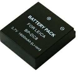 Akku passend für Leica BP-DC8 3,6Volt 1.300mAh Li-Ion (kein Original)