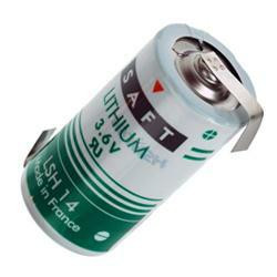Saft Baby Batterie LSH14 (3,6Volt) mit Lötfahne in Z-Form