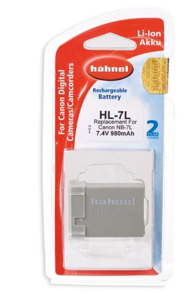 Hähnel Akku passend für Canon NB-7L 7,4Volt 980mAh Li-Ion (kein Original)