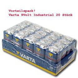 Varta 9V Industrial Batterie V4022 im Vorteilhaften 20er Pack