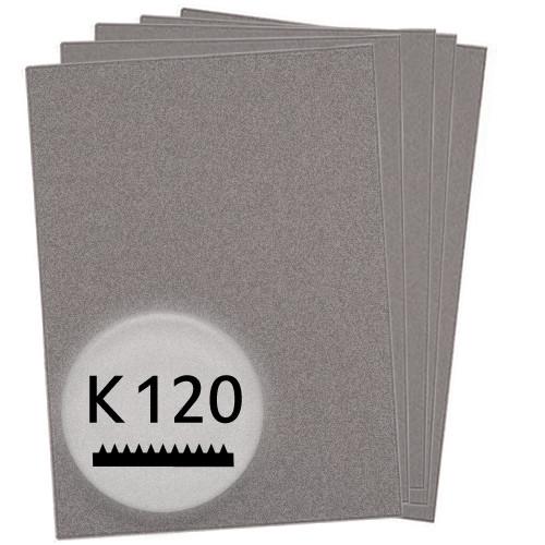 K120 Schleifpapier in 50 Bögen, 230x280mm - für Holz und Lack, Finishing