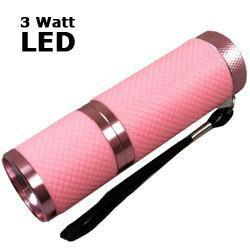 LED Taschenlampe 3 Watt mit Aluminiumgehäuse, rosa