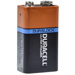 Duracell 9V Ultra Power E-Block Test, erreichte Zeit: 270 Min.