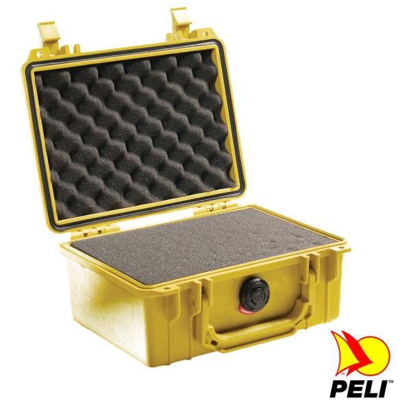 Peli 1150 Schutzkoffer, Case gelb mit Würfelschaum