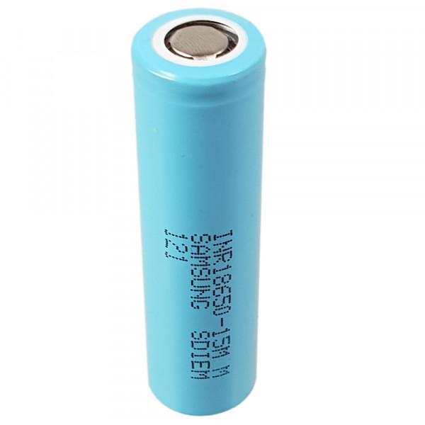 Samsung SDI INR18650-15M Li-Ion Zelle 3,6V 1,5Ah, hellblau, ungeschützt