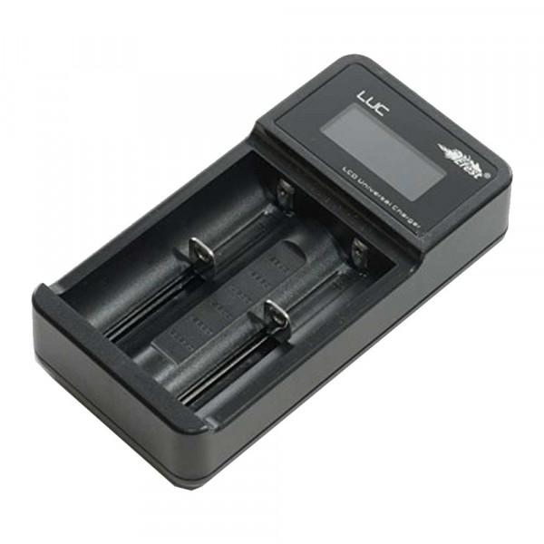 Efest LUC Zweischacht USB-Ladegerät für 18650, 26650, CR123, 14500 Li-Ion Akkus 3,6V-3,7V