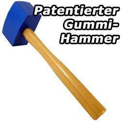 Patentierter Soft-Schlag Hammer für Glas-Arbeiten, Zimmerrei, Schreinerei