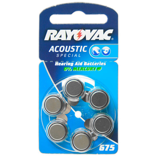 VARTA Hörgeräte-Batterien HA675 Acoustic Special vom Typ 675 (im 6er Pack)