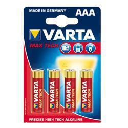 Varta 4703 Max-Tech LR03 AAA im 4-er Blister