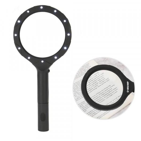 3-fach Lupe mit Licht (12 LED)