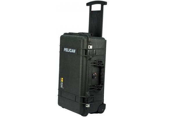 PELI 1510 Koffer, Carry on Case schwarz mit Würfelschaum