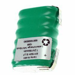 VARTA Knopfzellen Akku 6/V150H Säule 7,2Volt 150mAh NiMH 6er Säule mit Lötfahnen in U-Form