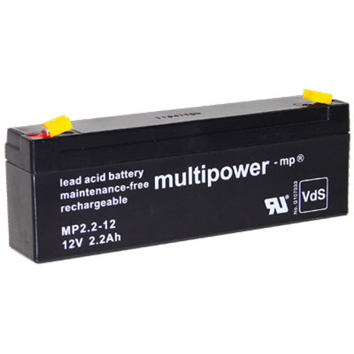 Multipower Bleiakku MP2.3-12 12,0Volt 2,2Ah mit 4,8mm Steckanschlüssen