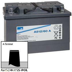 Exide Sonnenschein Bleiakku Dryfit A512/60A 12,0Volt 60.000mAh mit Anschluss: A-Pol