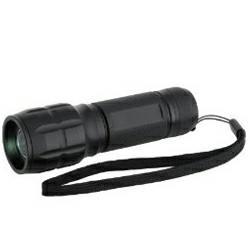 Lumatic Spot LED CREE Q3 Taschenlampe, schwarz inkl. Nylon-Schutztasche und Batterien