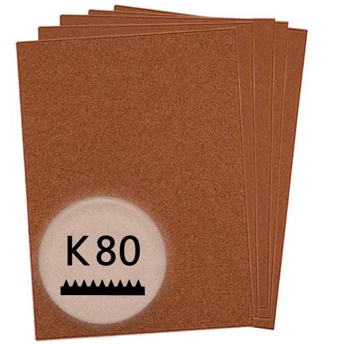 K80 Schleifpapier in 10 Bögen, 230x280mm - für Holz und Farbe