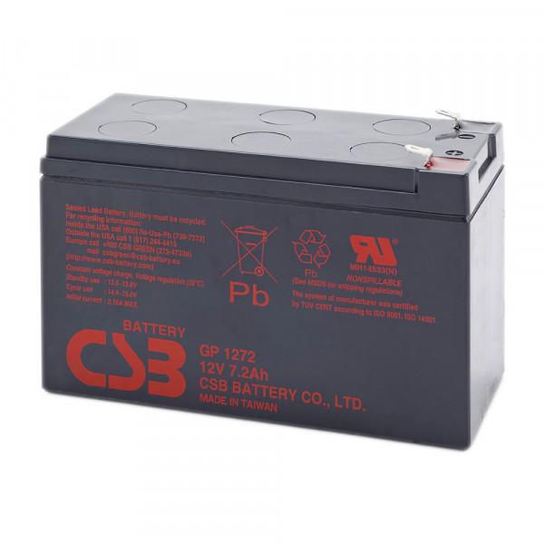 CSB GP1272 Blei-Akku 12V 7,2Ah, 4,8 mm Kontakte