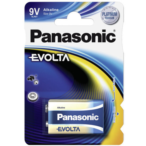 Panasonic 9V E- Block Batterie 6LR61, MN1604, 9,0Volt im 1er Blister
