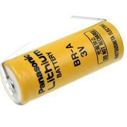 Panasonic Lithium Batterie BR-A mit Lötfahnen in U-Form