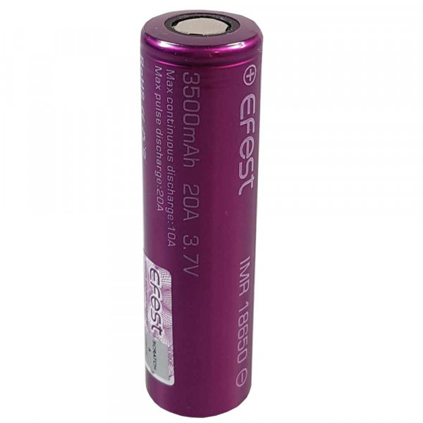 Efest Purple IMR18650 3500mAh 3,6V - 3,7V Li-Ionen Akku ungeschützt