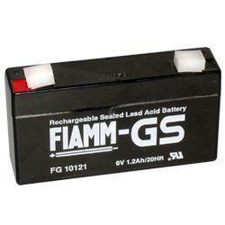 Fiamm Bleiakku FG10121 6,0 Volt 1,2 Ah mit 4,8mm Steckanschlüssen