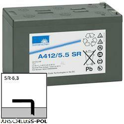 Exide Sonnenschein Bleiakku Dryfit A412/5.5SR 12,0Volt 5,5Ah mit 6,3mm Steckanschlüsse