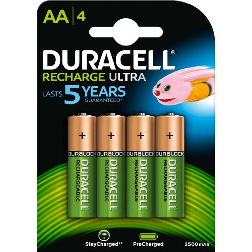 Recharge Ultra AA Akkus 2500mAh 1,2V HR06 4er Blister