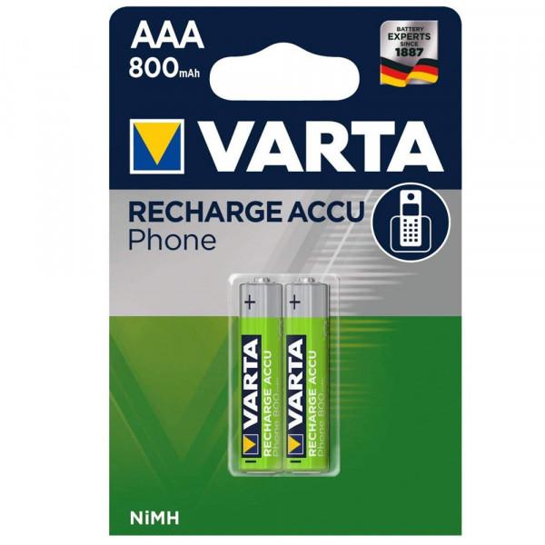 Varta T398 Professional Phone Power Micro AAA Telefonakku, 2er Blister