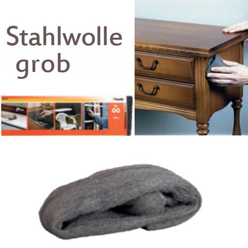 Grobe Stahlwolle Nr. 03, 200g - für Metall und Holz