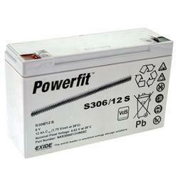 Exide Bleiakku Powerfit S306/12S 6,0Volt 12Ah mit 4,8mm Steckanschlüssen
