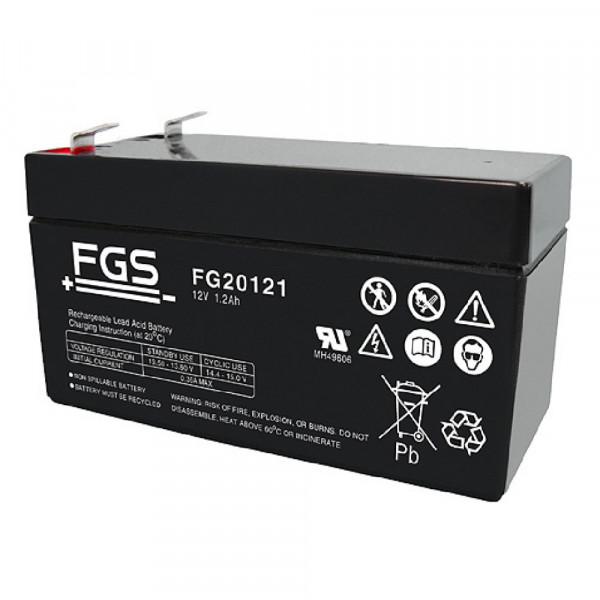 FGS FG20121 Akku 12 Volt 1,2 Ah mit 4,8mm Steckanschlüssen
