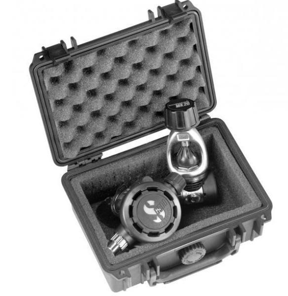 Peli 1120 Koffer, Case schwarz mit Würfelschaum