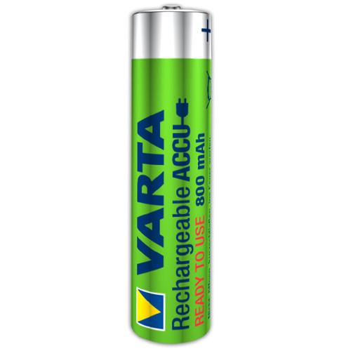 Varta 56703 Longlife Akku Ready2Use Micro (AAA) 1,2 Volt 800mAh NiMH (1 Stück)