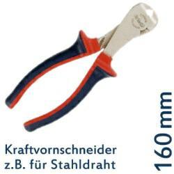 DIN 5252 A Kraft-Vornschneider f. Stahldraht, 160 mm, CV-Stahl, TÜV/GS geprüft