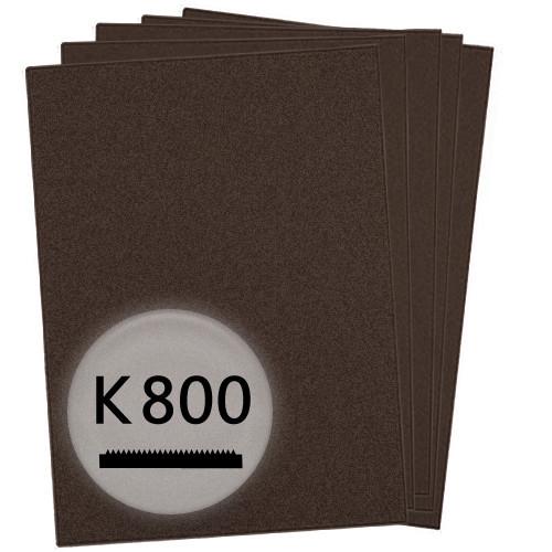 K800 Schleifpapier in 10 Bögen, 230x280mm - für Lack und Auto, wasserfest