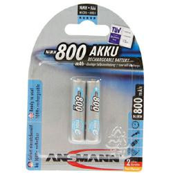 ANSMANN max E Micro Blue Akku (AAA) 1,2Volt 800mAh NiMH im 2er Blister