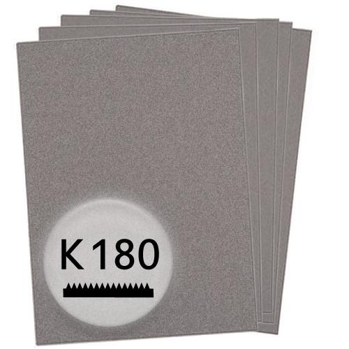 K180 Schleifpapier in 10 Bögen, 230x280mm - für Holz und Lack, Finishing