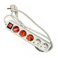 Arcas 5-fach Steckdose mit 1,5 Meter Anschlusskabel und Schalter inkl. Kindersicherung