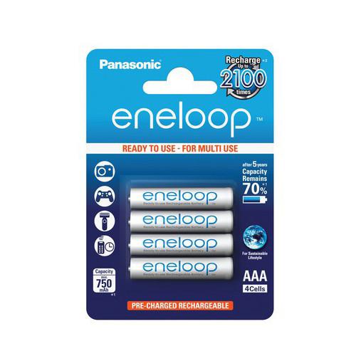 Panasonic Eneloop Micro (AAA) Akku 1,2Volt 750mAh NiMH im 4er Blister