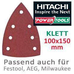 HiKoki Schleifpapier SP f. Klett Deltaschleifer 100x150mm K180