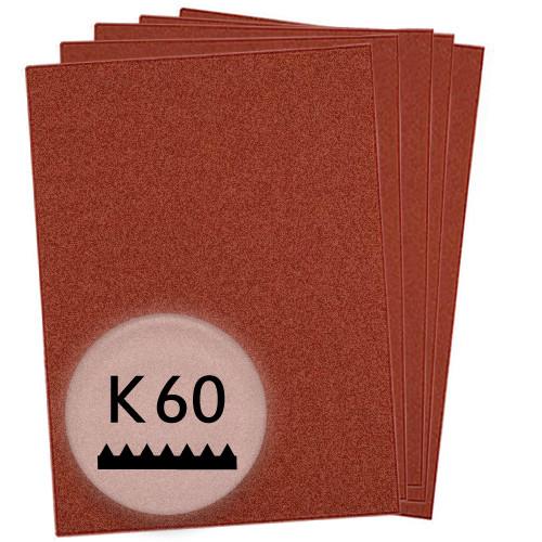 K60 Schleifpapier in 50 Bögen, 230x280mm - für Holz und Metall