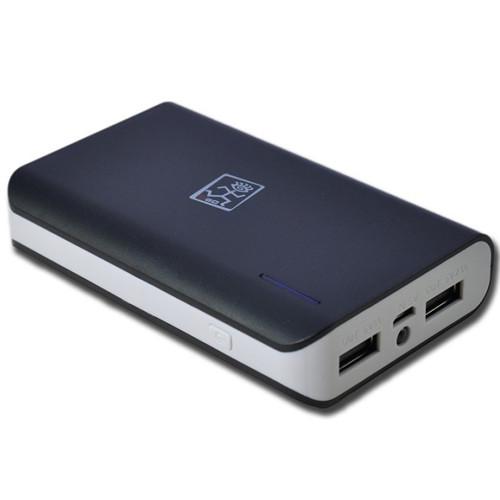 2GO Powerbank Zusatzakku Travel Light MAX 6600mAh in schwarz