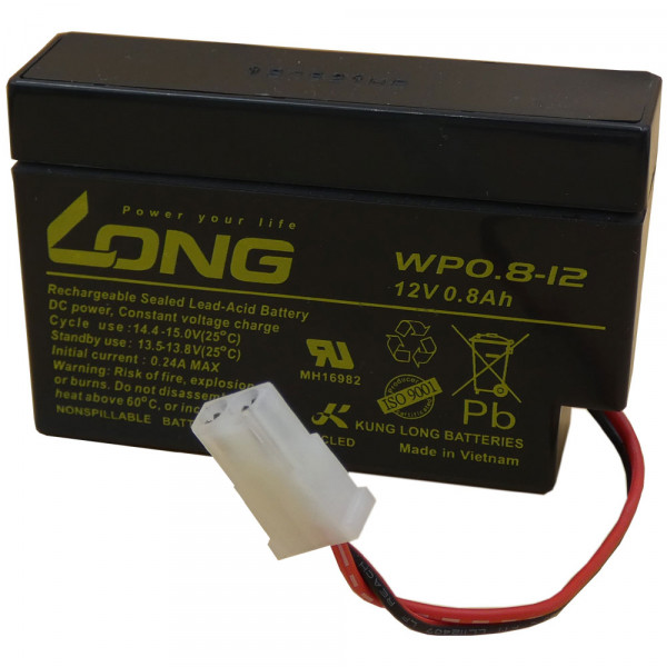 Long WP0.8-12 Akku 12V mit AMP Stecker für Rolladen